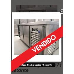 Mesa fria 2 puertas / 1 estante