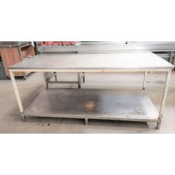 Mesa con tapa de acero 194cm